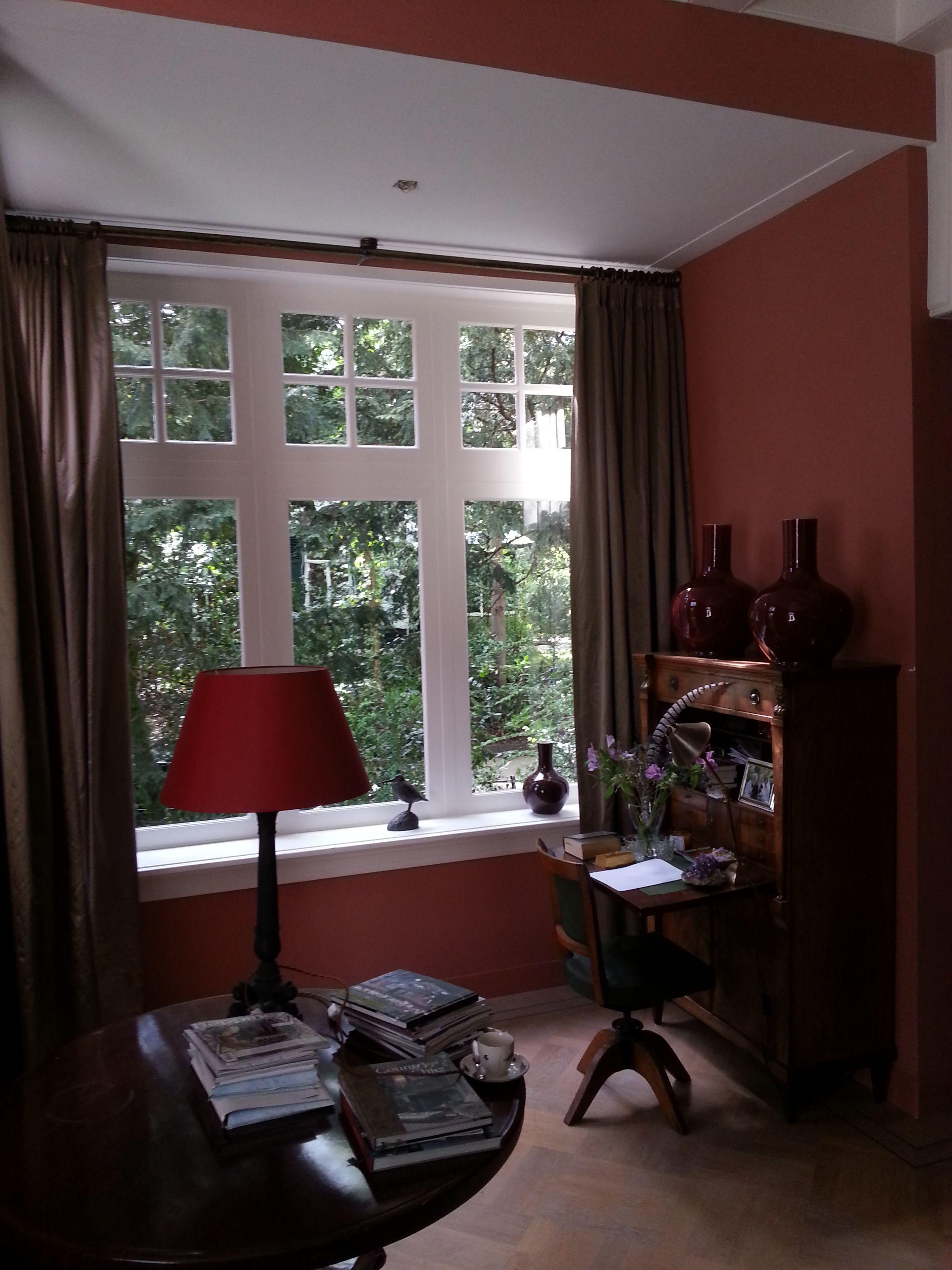 linnen gordijnen op roede | Ideeën voor het huis | Pinterest ...