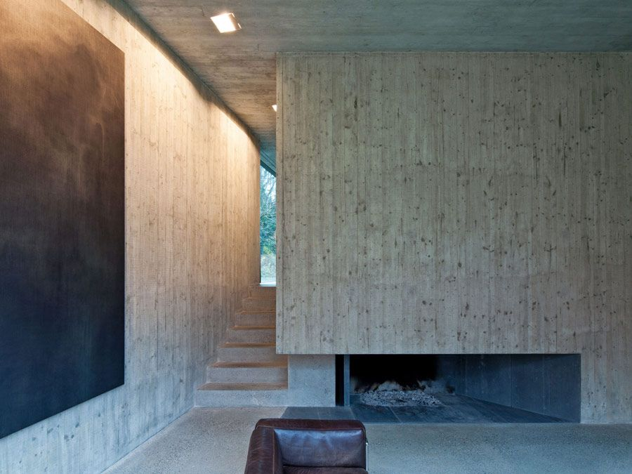 Schneider U0026 Schneider Has Built This Stunning But Somewhat Austere House.  The Black Cube Is Simple In Structure But Precise. The Concrete Interior  Structure