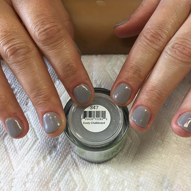 Sns 347 Dusty Chalkboard Via Polishandpampernails On Instagram Dip Nails Color Swatches