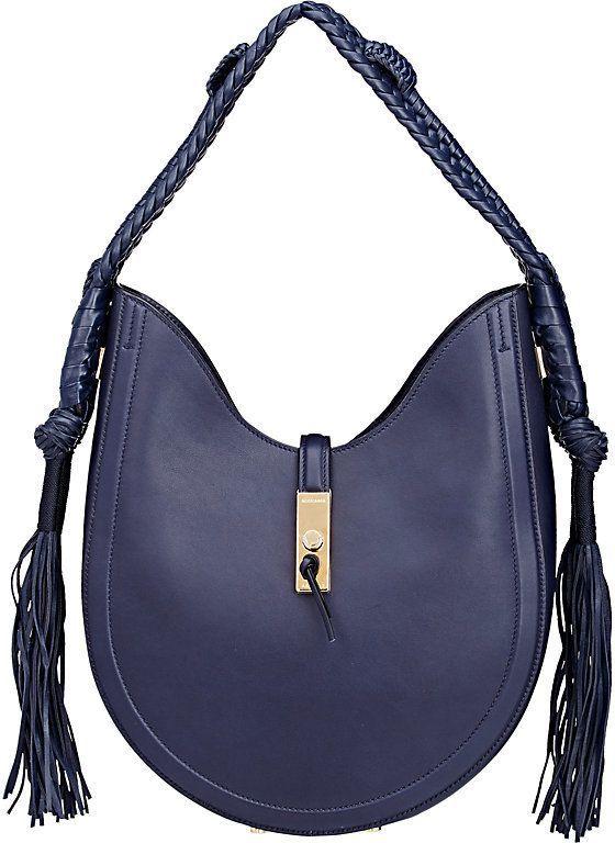 Altuzarra WOMEN S GHIANDA BULLROPE SMALL HOBO BAG Navy Blue Handbags 2a9edb3aed7be