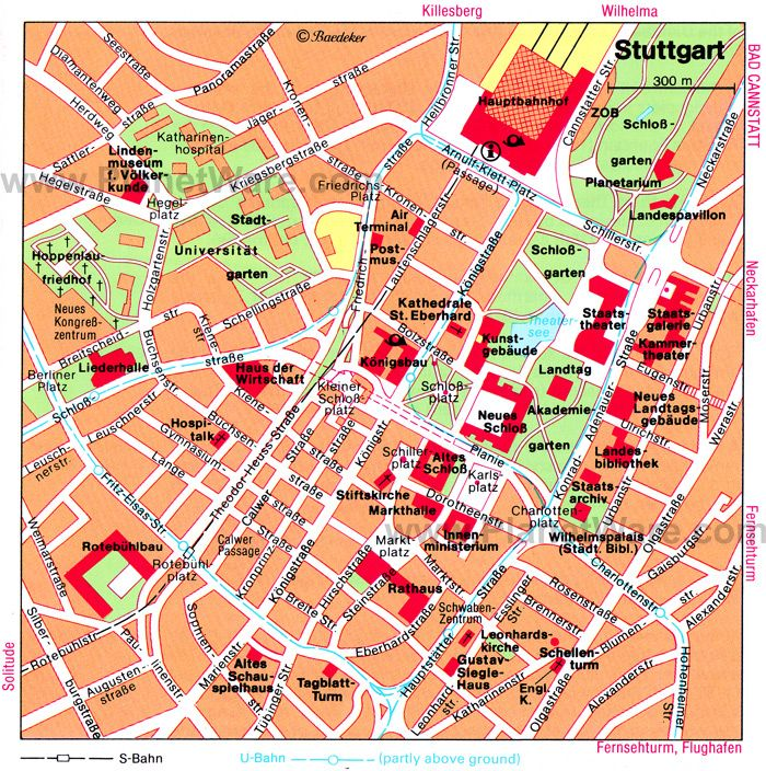 Stuttgart Map Tourist Attractions design Pinterest Stuttgart