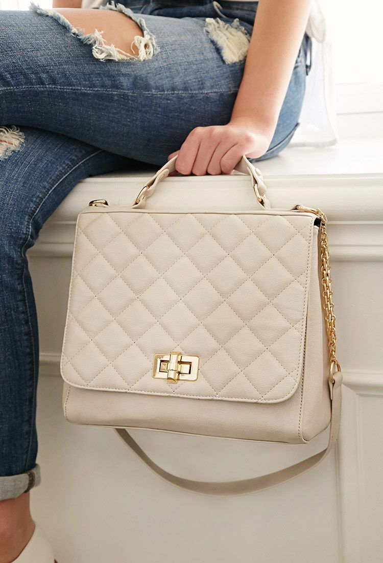 fd07cc35838 Quilted Faux Leather Shoulder Bag