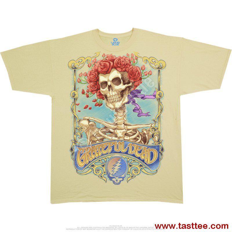 196de2b3c Grateful Dead Big Bertha Tan Athletic T Shirts Tee Liquid Blue in ...