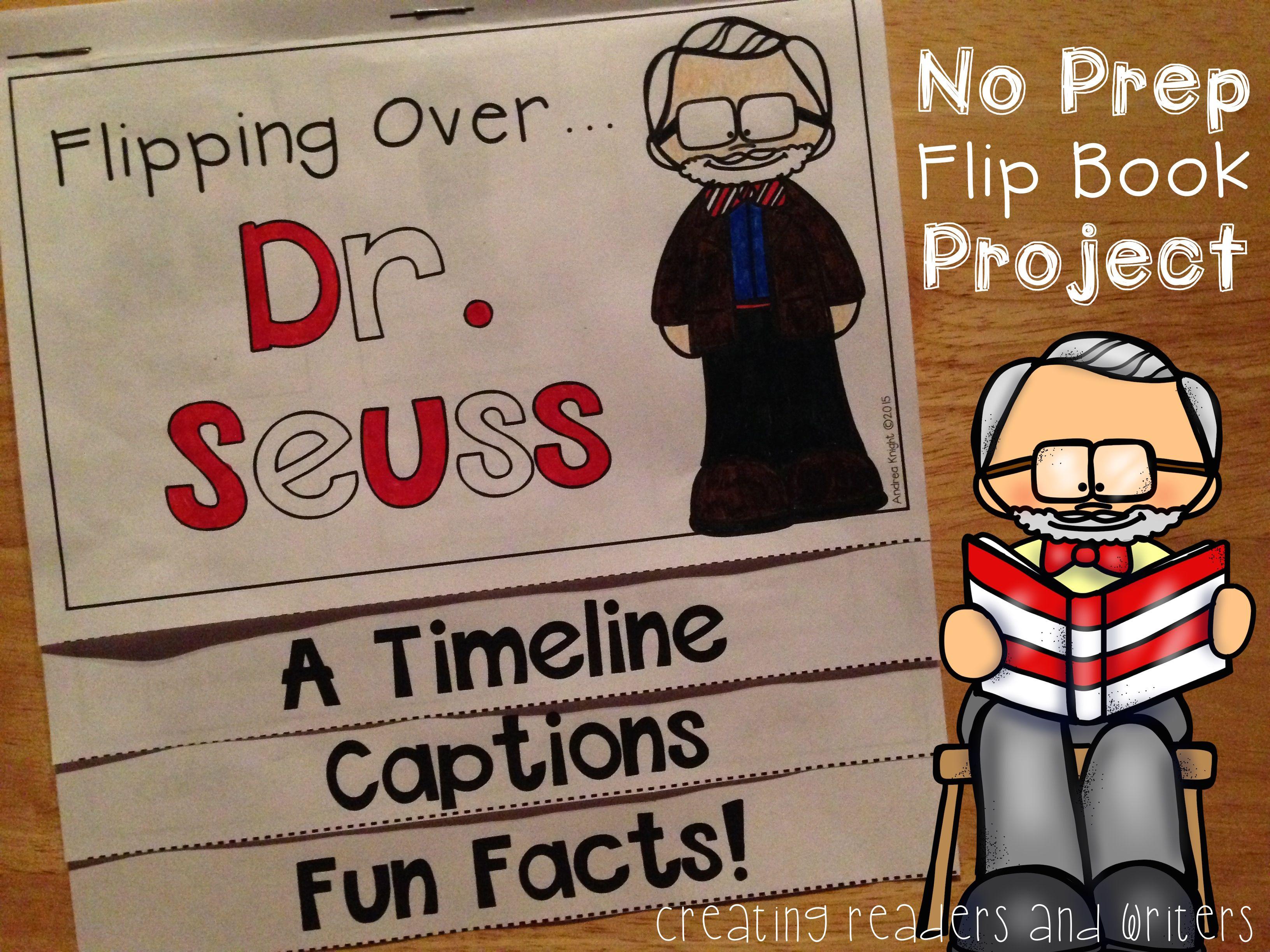 Flipping Over Dr Seuss A Biography Flip Book For Grades