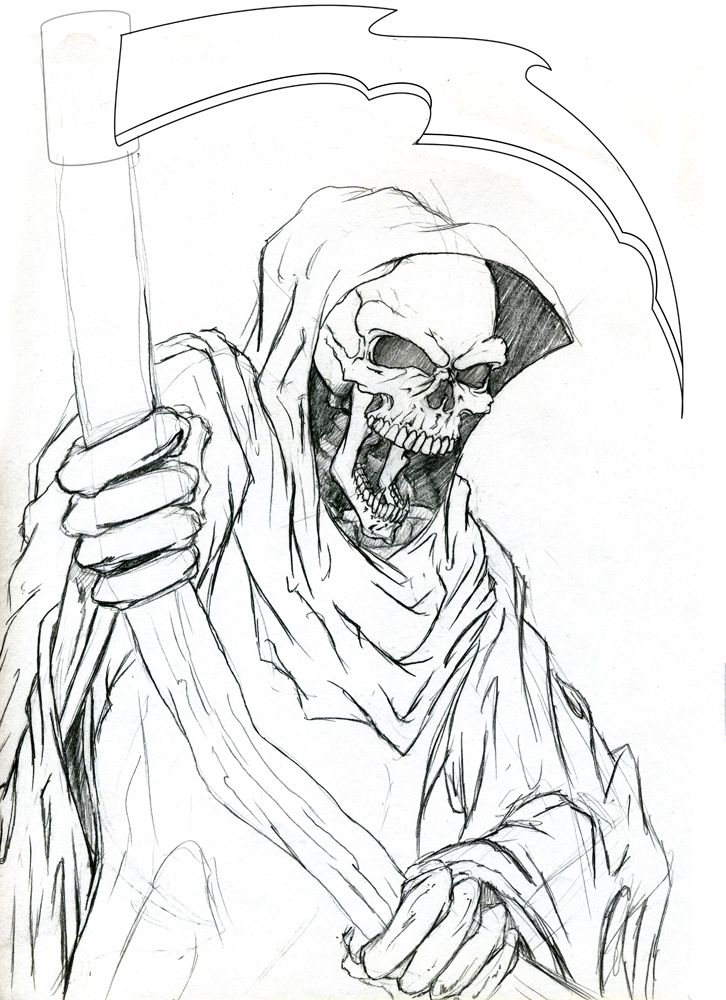 grim reaper coloring pages # 2