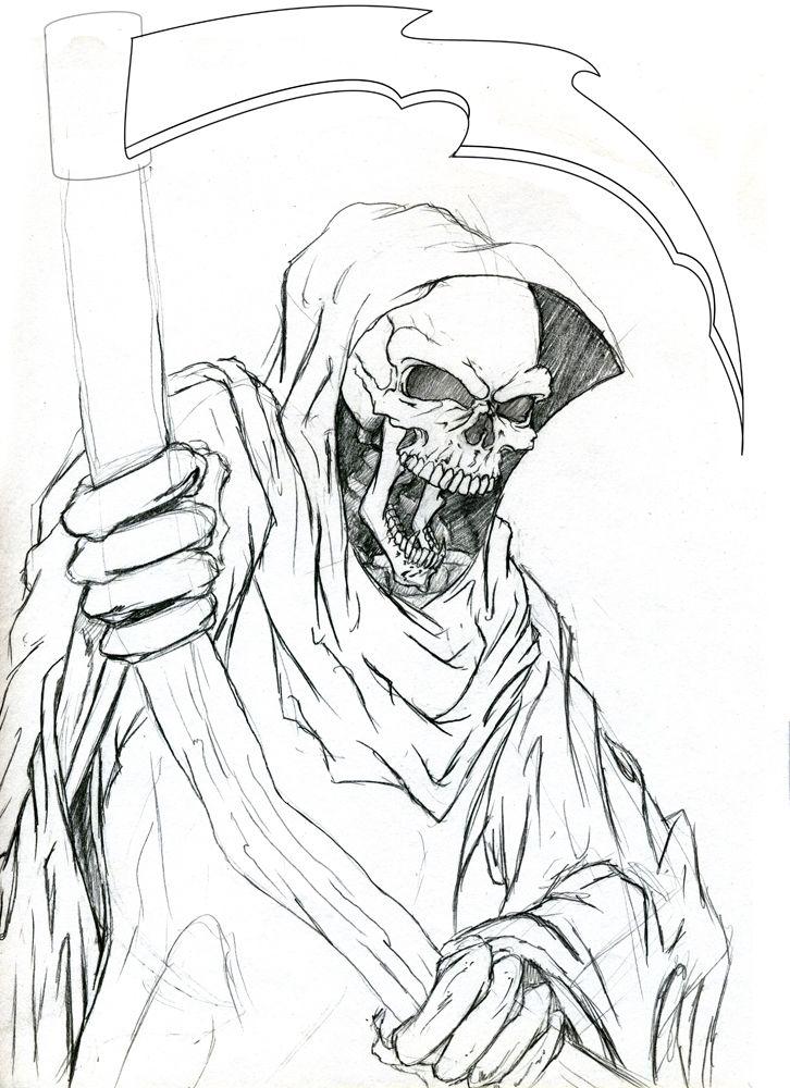 reaperjpg 726 y Pinterest Grim reaper Evil tattoos