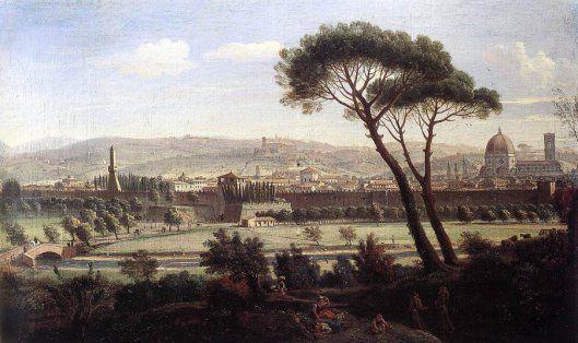 View Of Florence From The Via Bolognese (1695) - Caspar van Wittel (Gaspare Vanvitelli) (1653 – 1736, Dutch)