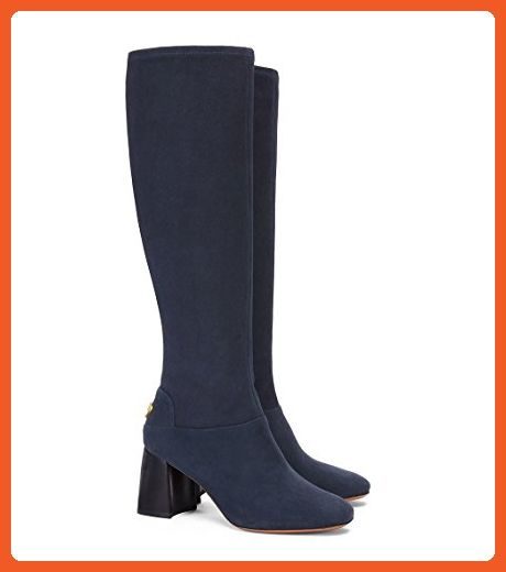 b683a34f55a58 Tory Burch Boots Sidney 70mm Leather Suede (8.5, Tory Navy ...