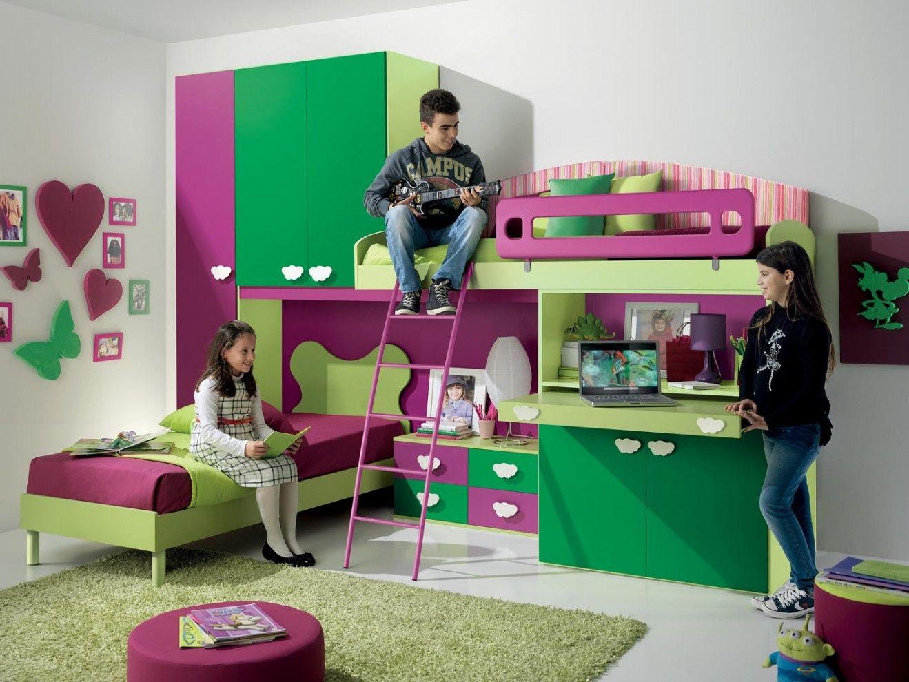 La cameretta per bambini emanuela sfrutta con fantasia for Arredamenti per bambini