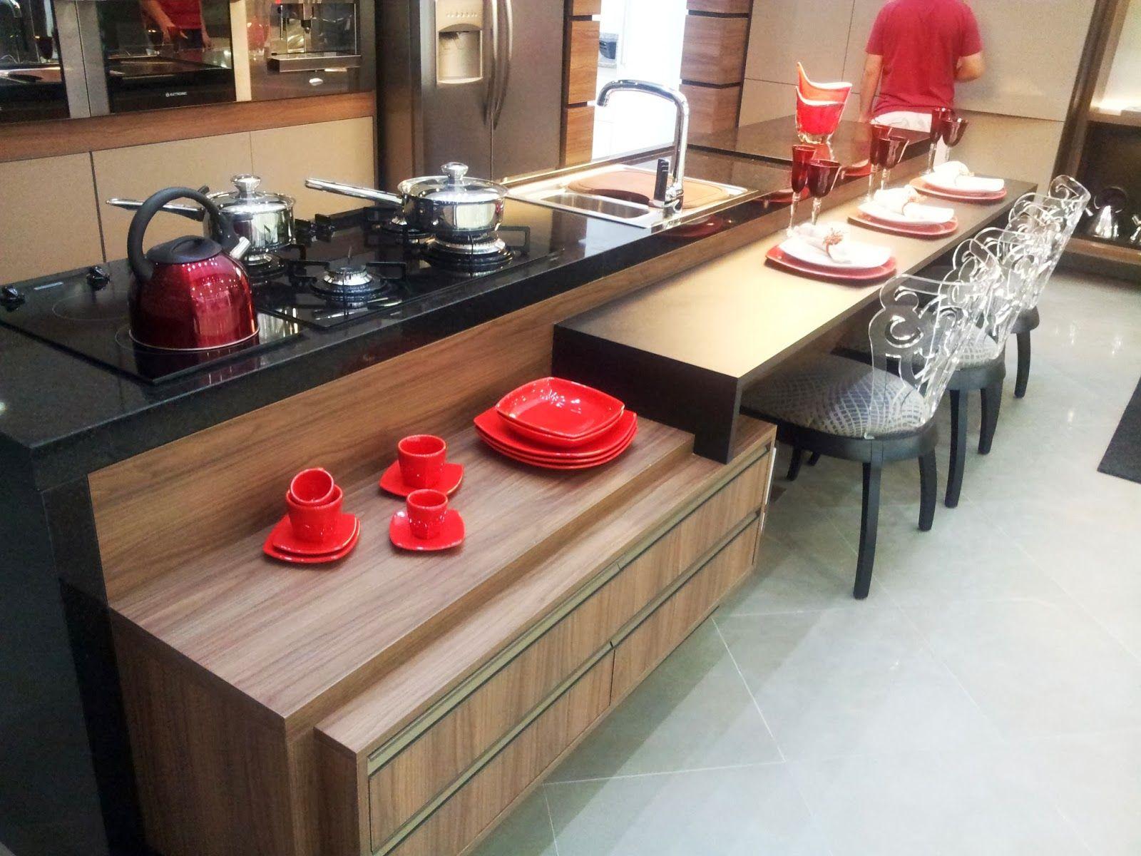 Balc O Ilha Pesquisa Google Cozinhas Pinterest Balc O  ~ Balcão Grande Para Cozinha Acozinha Com Sala De Jantar