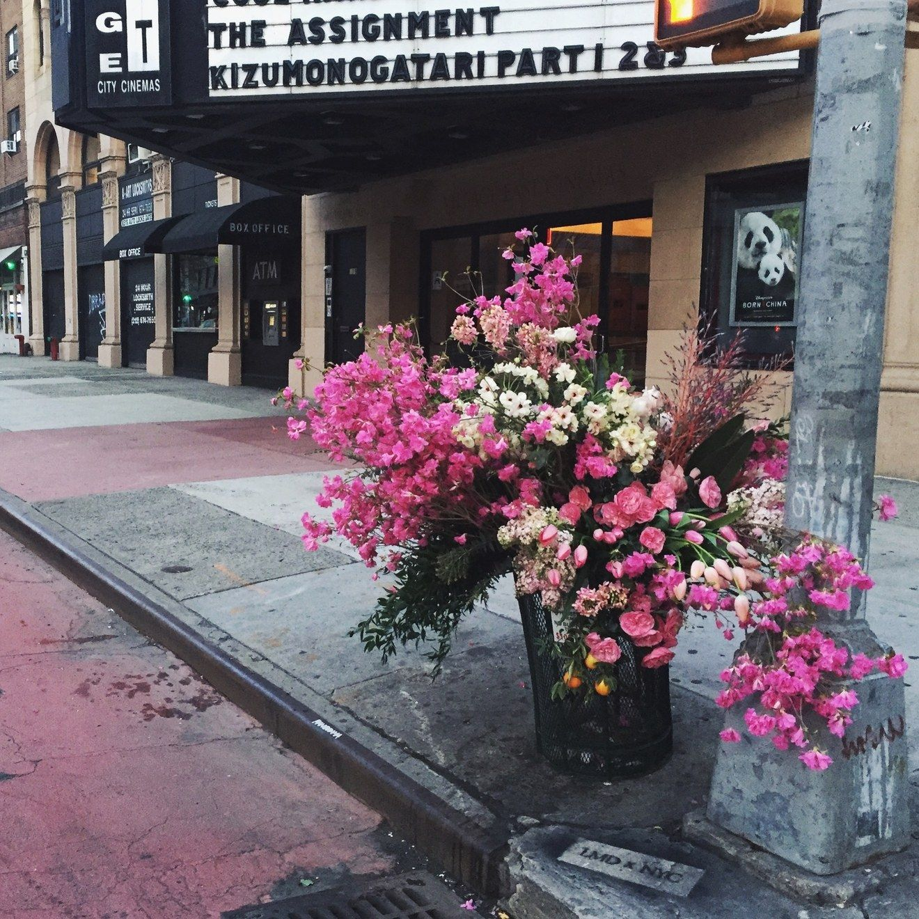 Lewis Miller Has Become New York Citys Flower Bandit The Flower - Artist turns nyc trash cans into giant flower filled vases