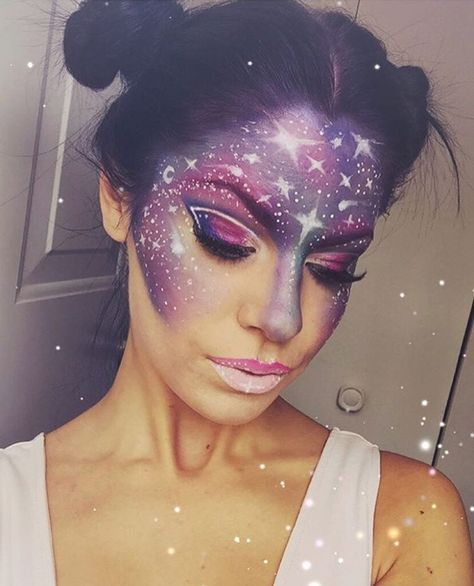 Galaxy Face Paint Tutorial