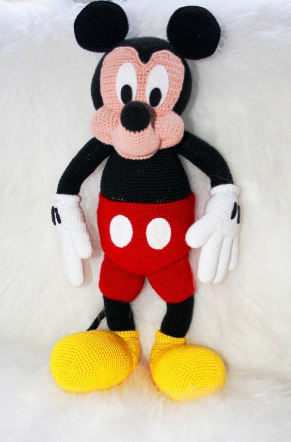 Maus Mickey Häkeln Amigurumi Selber Häkeln Jos Ideja Za Spretne