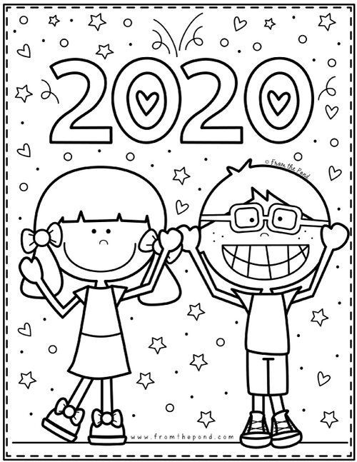 Coloring Club From The Pond Coloring Club From The Pond In 2020 New Year Coloring Pages New Years Activities Winter Preschool