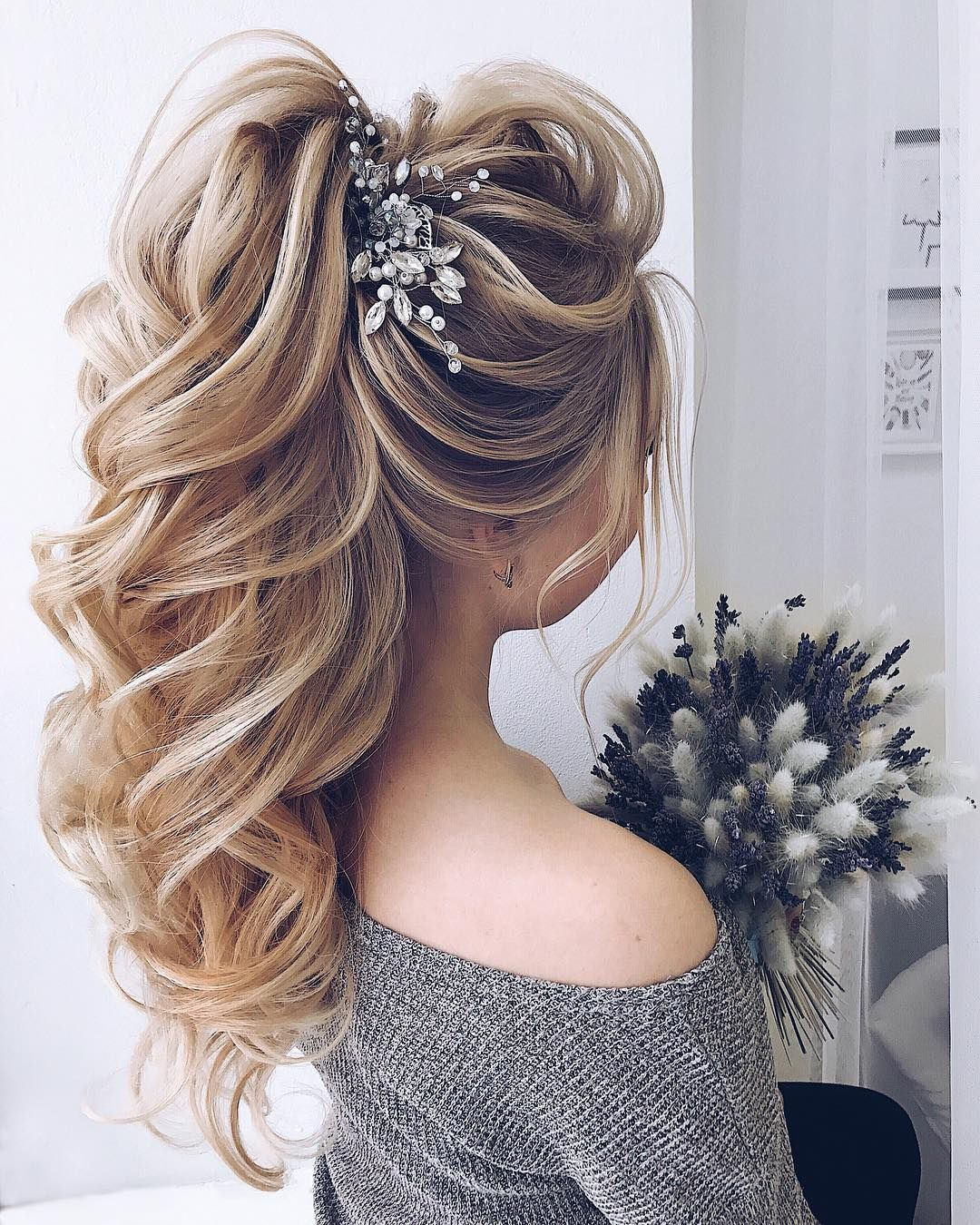 92 Drop Dead Gorgeous Wedding Hairstyles For Every Bride To Be Elegant Ponytail Pony Hairstyles High Pony Hairstyle