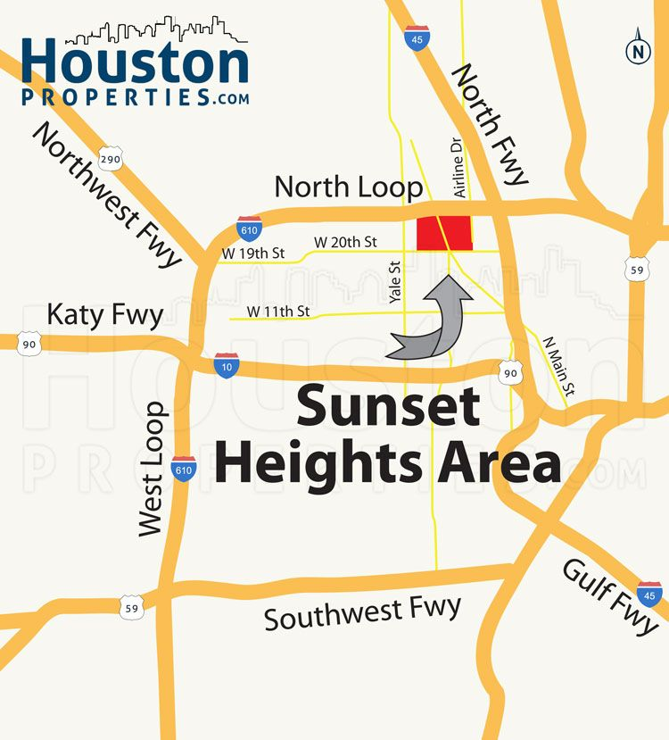 Sensational Sunset Heights Houston Map  Great Maps Of Houston