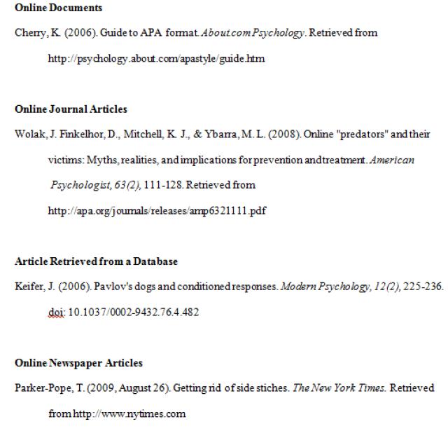 apa format work cited