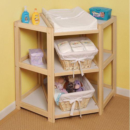 Badger Basket Diaper Corner Baby Changing Table