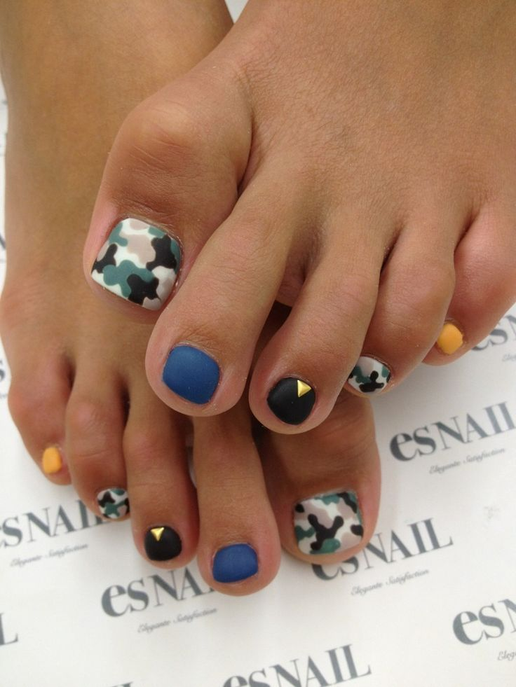 Más de 40 fotos de uñas decoradas para Pies – Foot nails ...