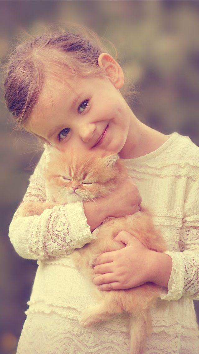 Картинки кот и малышка