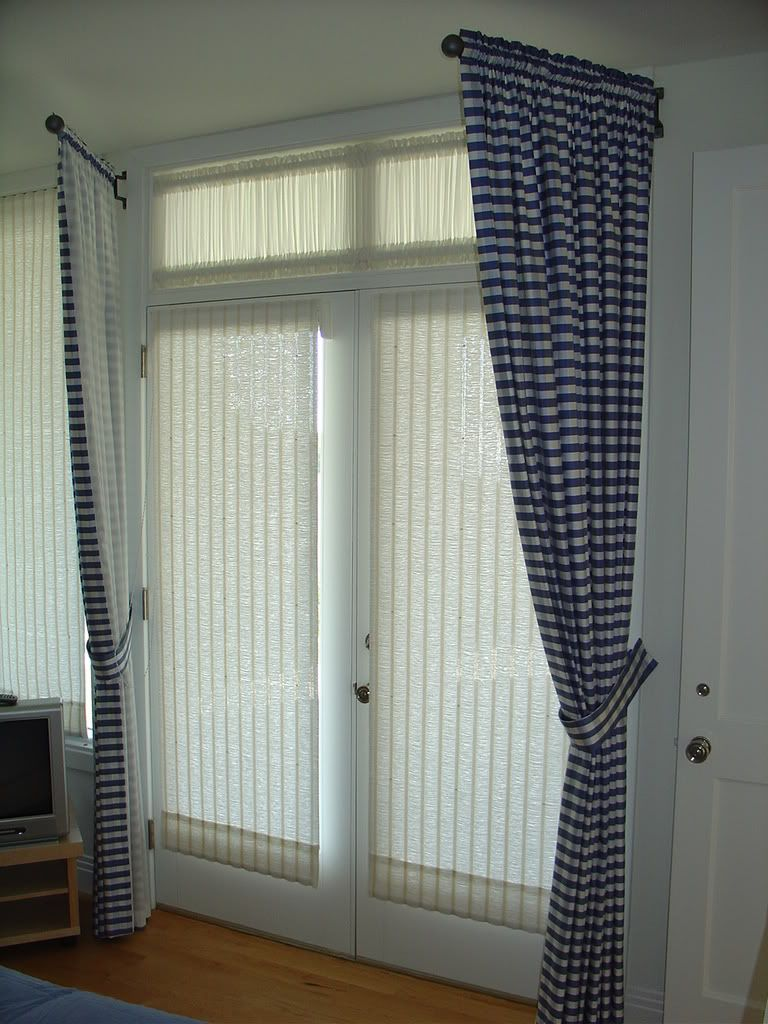 Swing Arm Drapes Curtains With Blinds French Door