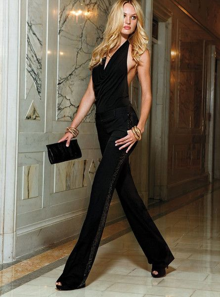 cfe17d0b3e67 Black Jumpsuit for Evening Wear. You can also wear wide leg pants with a  top for a similar look.