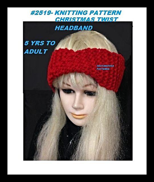 2519K- Christmas Twist Headband | Twist headband, Knit ...