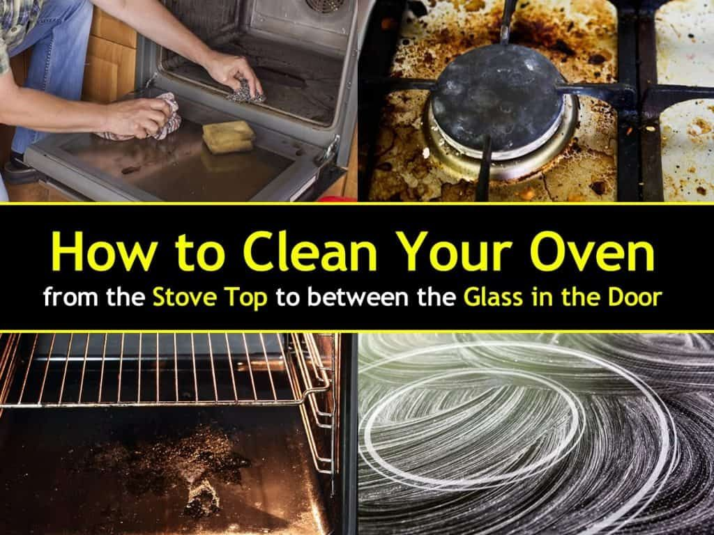 how to clean electric stove range