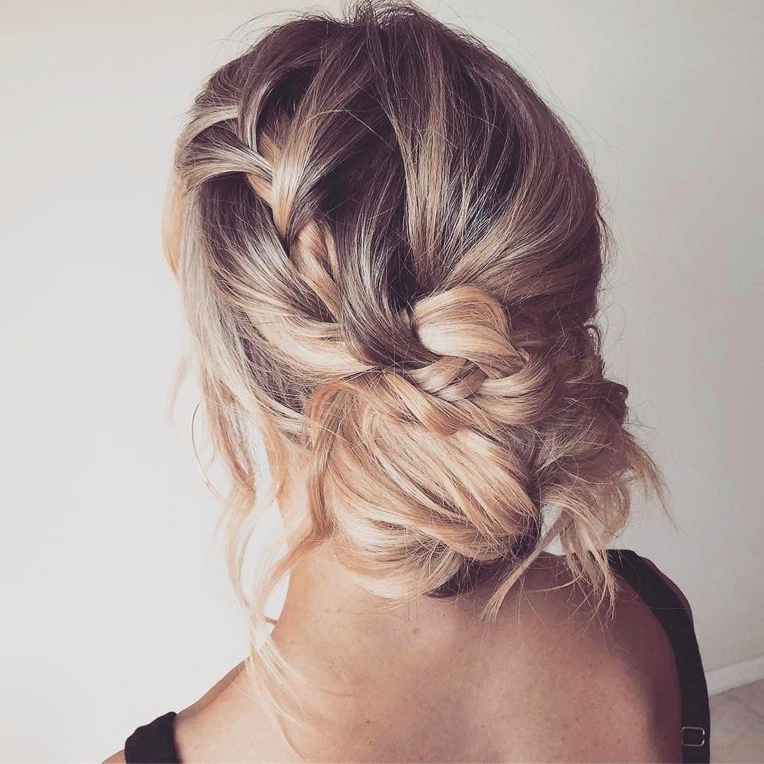 20 Braided Updos That Are Fire For Fall Bun Braid Updo And Romantic