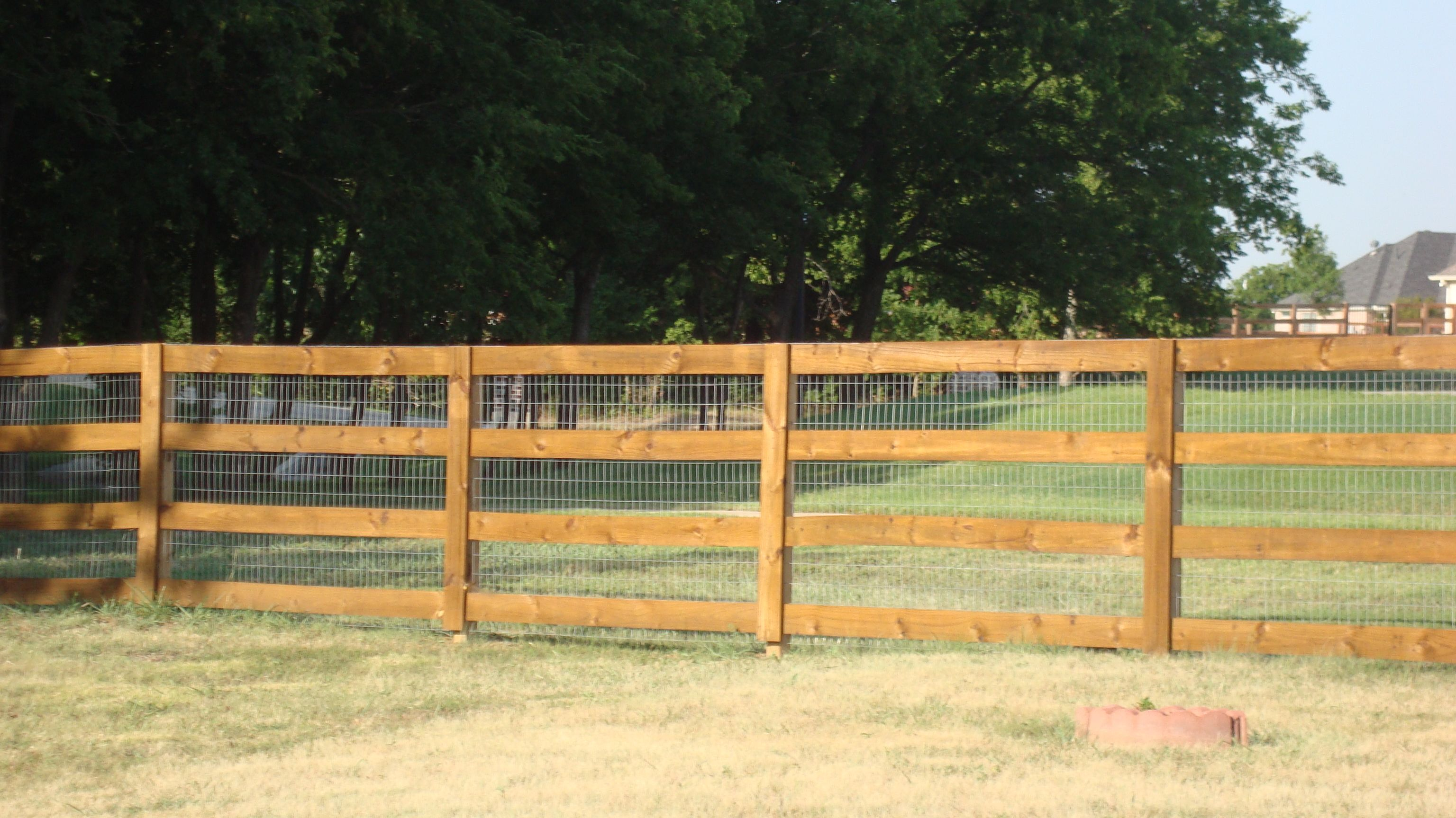 treated ranch rail three rail with no climb built by titan fence