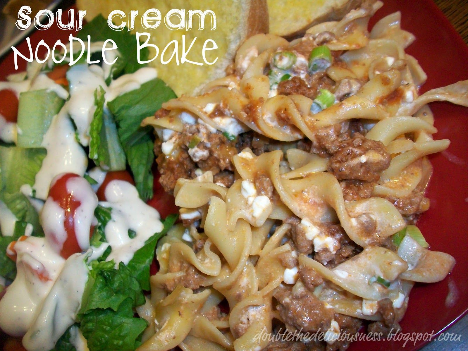 Sour Cream Noodle Bake #sourcreamnoodlebake