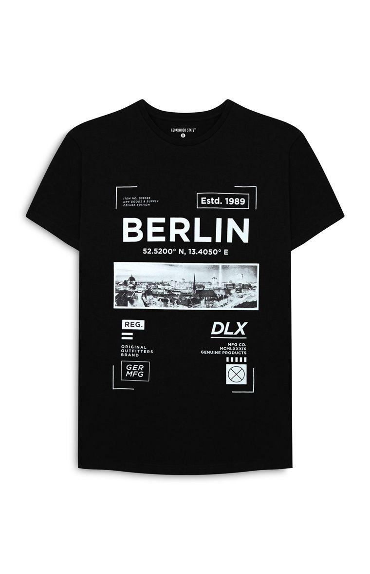 T Shirt Berlin Noir Imprim Branding All Types Pinterest Shirt