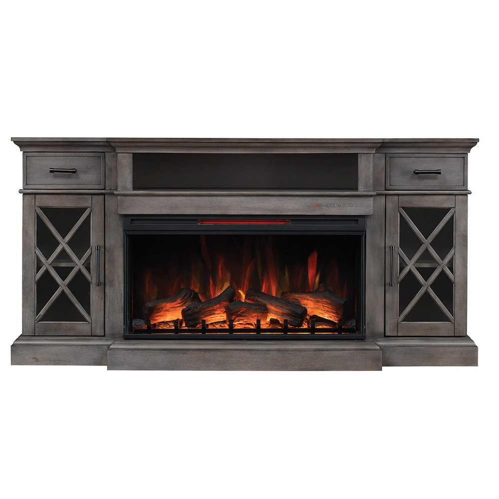 70 Inch Weathered Gray Fireplace Tv Stand Hamilton Rc Willey Furniture Store Grey Fireplace Tv Stand Fireplace Tv Stand Fireplace Tv Tv stand with fireplace for 70 inch tv