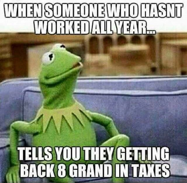 1b3c546156650f8bd25e3f32bd3ca874 2016 tax season memes funny pinterest memes, kermit and humor,Tax Refund Memes