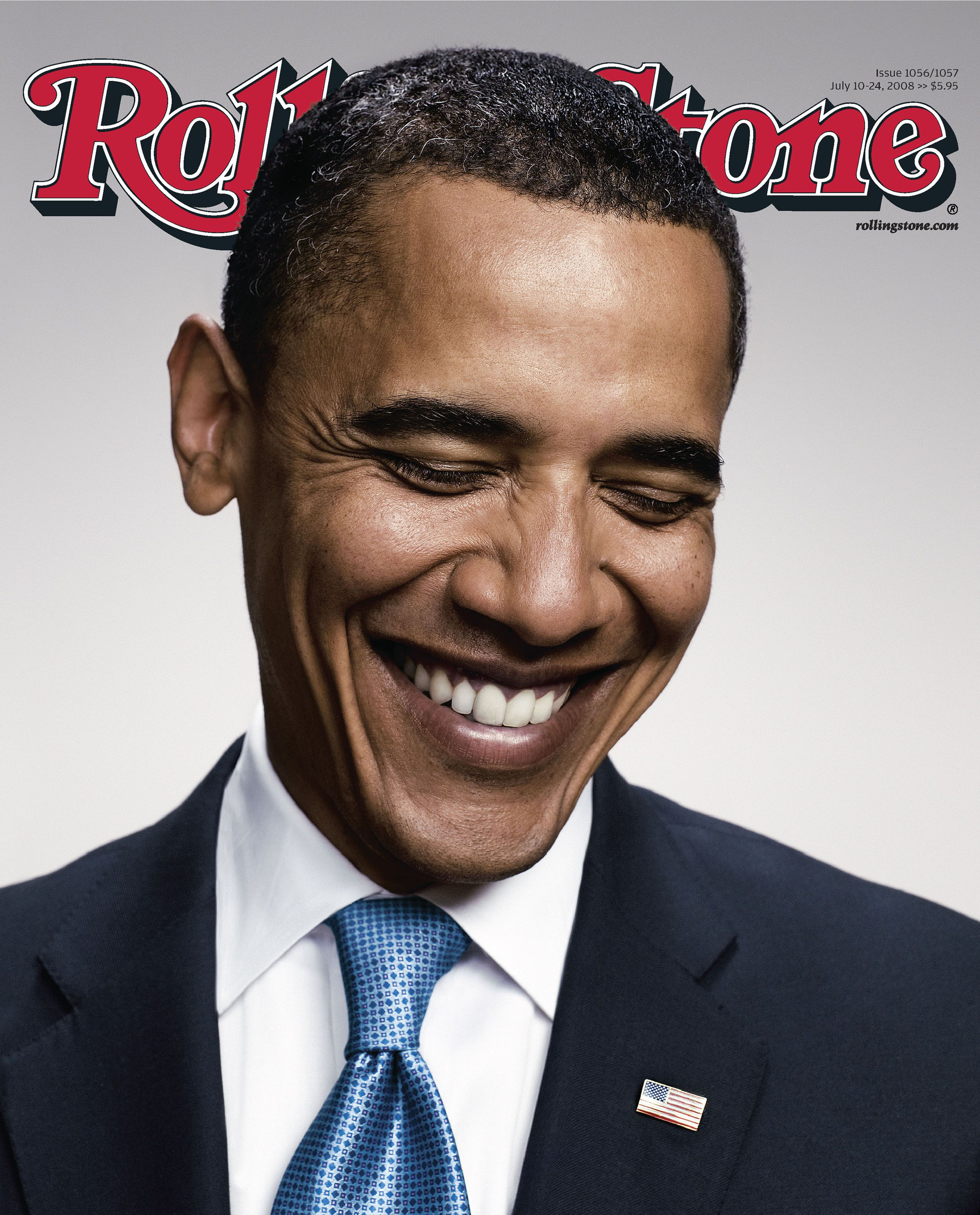 Barack Obama (Peter Yang) Rolling Stone, 2008