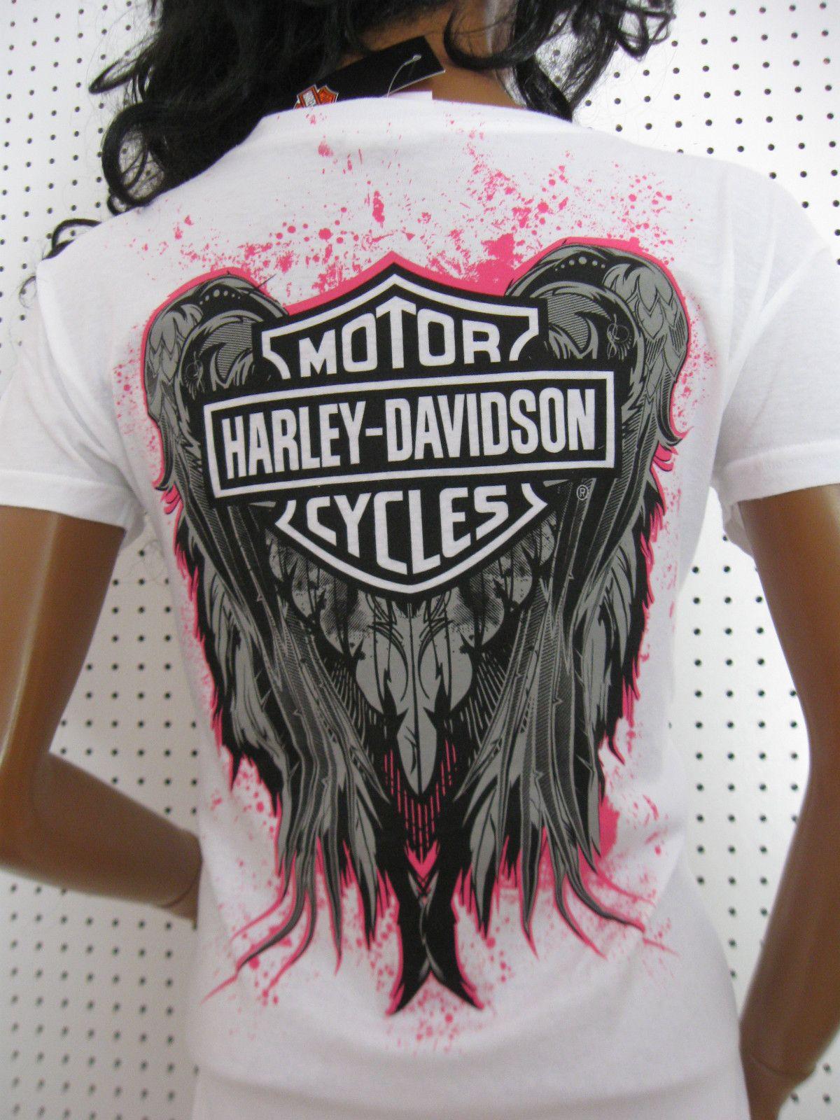 7c0f72b4 M nwt HARLEY DAVIDSON **Hot Pink Splatter Wing Back * | Harley ...