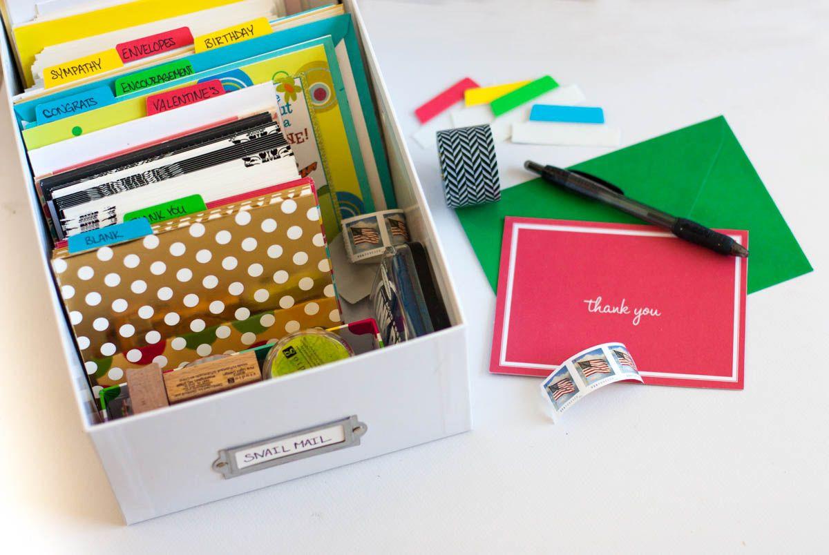 A Diy Greeting Card Organizer Greeting Card Organizer Craft Storage Greeting Cards Diy