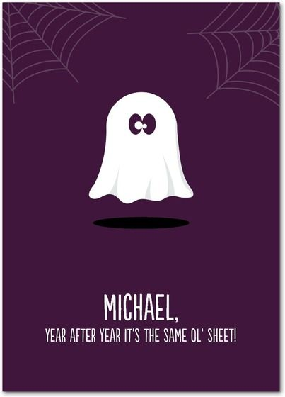Gloomy Ghost - Halloween Cards from Treat.com #trickorTREAT