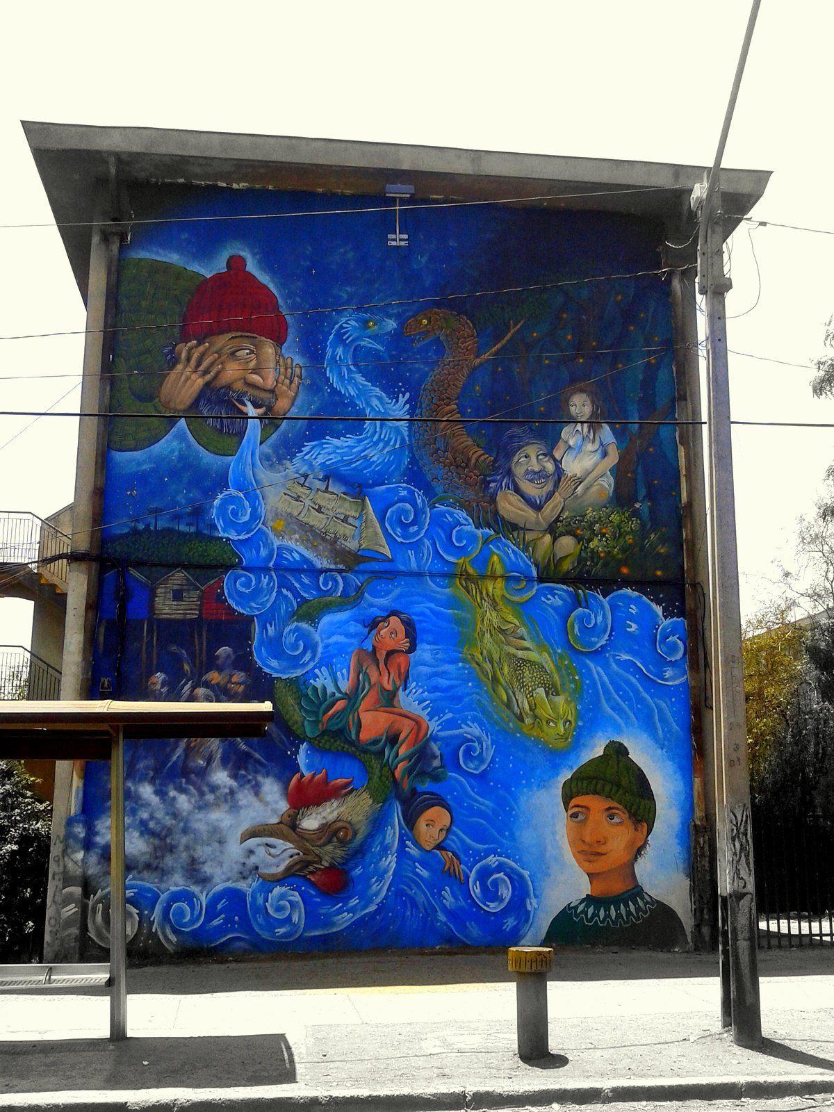 Street Art Museo a Cielo Abierto in Chile, Santiago, San Miguel 4