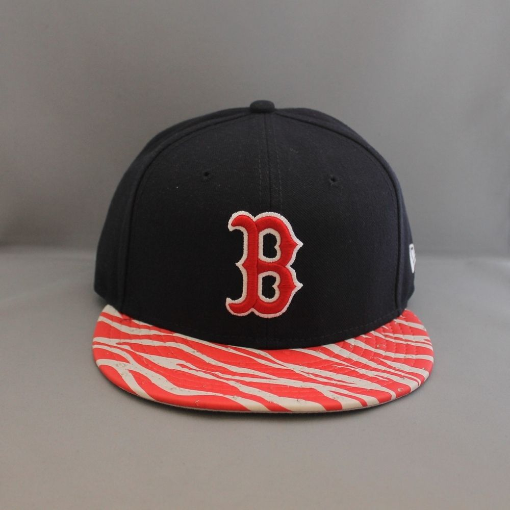 detailed look 206ee 1d995 New Era  Animal Visor  Boston Red Sox 9Fifty Snapback - Navy RedNew Era  9Fifty Strapback. Embroidered team logo on front. New Era flag logo at left  side and ...