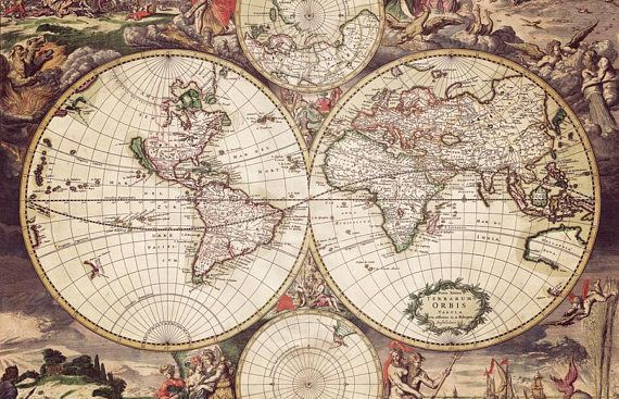 Old sepia world map canvas large art map poster ancient world map old sepia world map canvas large art map poster ancient world map wall art world map design vintage map interior decor perfect gift gumiabroncs Image collections