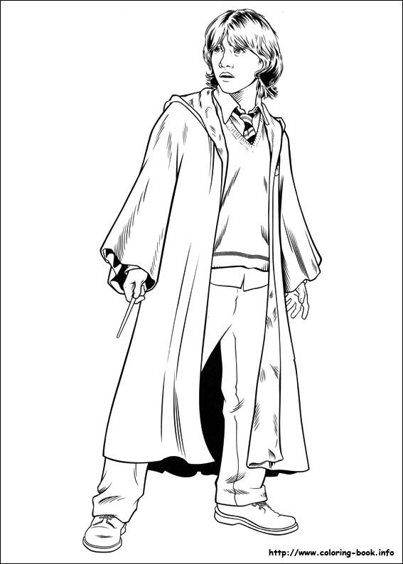 ron weasley coloring pages - photo#10