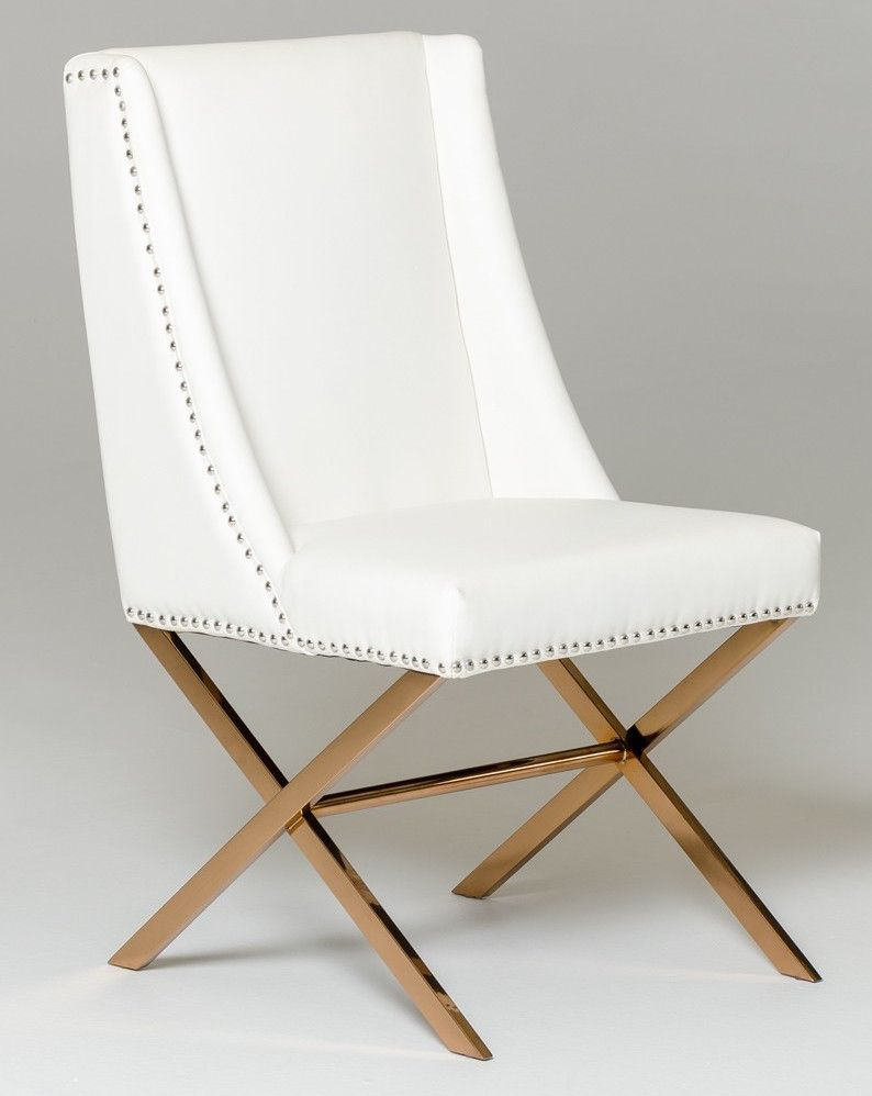Modus Dining Chair With Rose Gold Frame