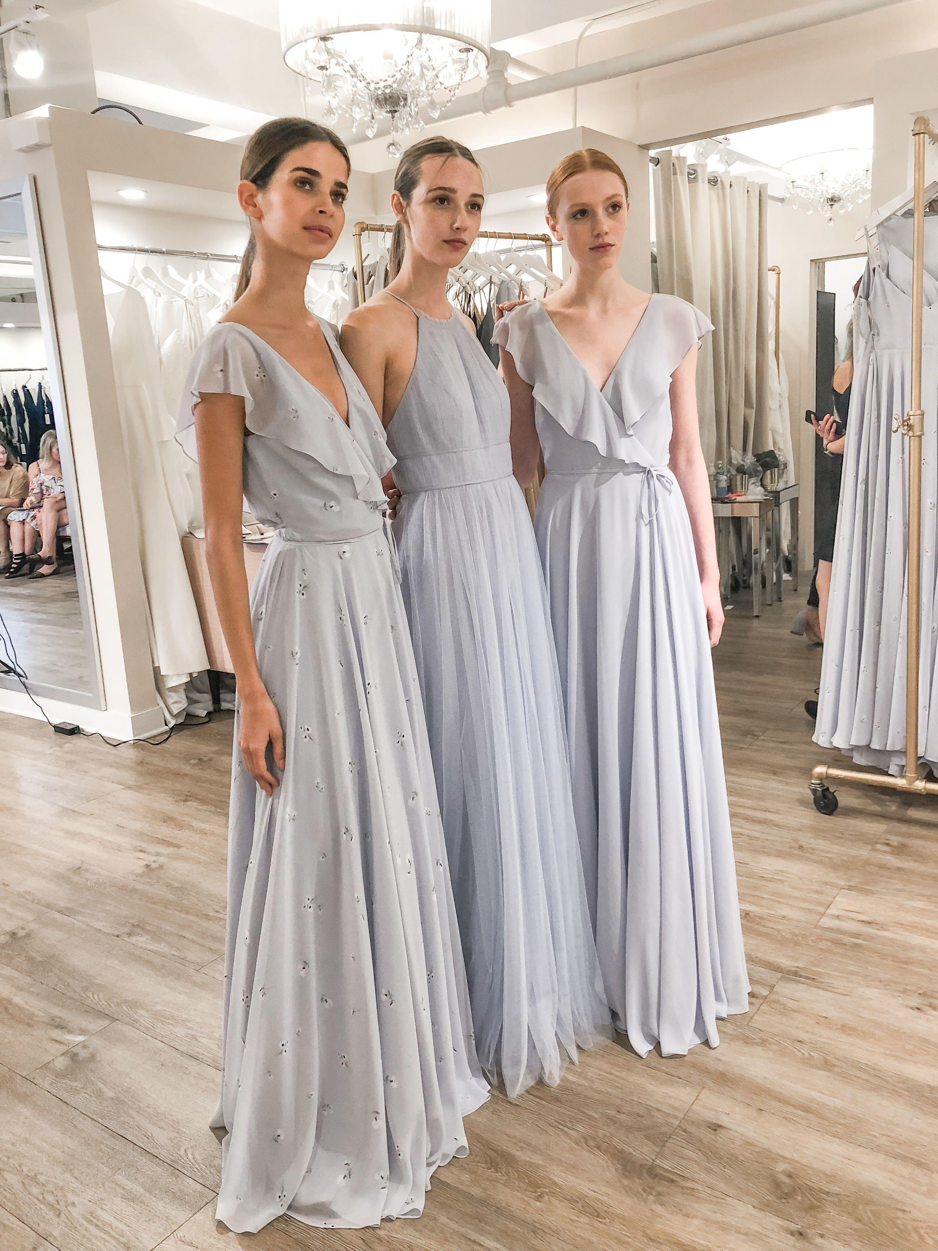 Bridesmaids Dress Trends From New York Bridal Fashion Week Https Rstyle Me Pa3lu5zvesxjgxqq1 Wedding Dresses Blush Blush Bridesmaid Dresses Trending Dresses