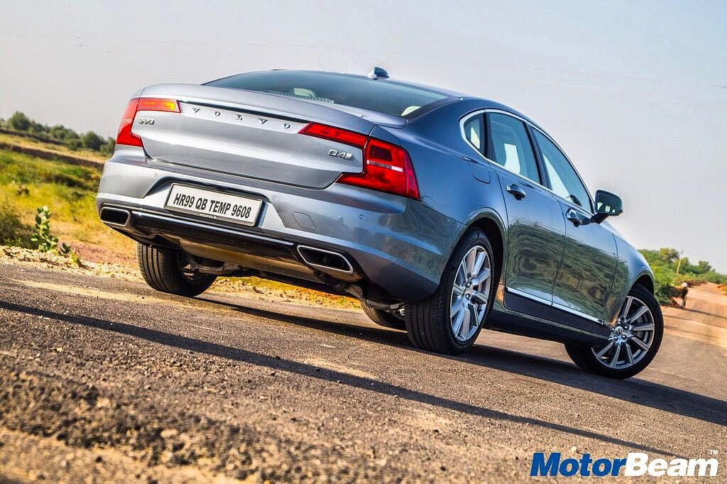 The new Volvo S90 looks very unique from the rear