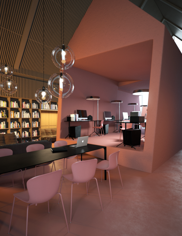 Office  Attic  by vasiliy butenko, via Behance
