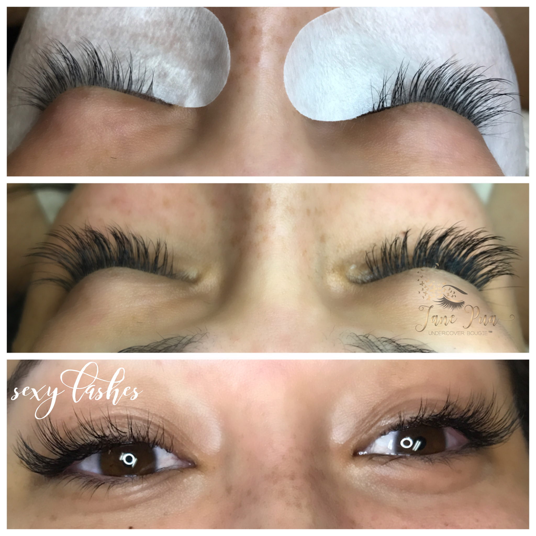This Client Has Long Straight Lashes With Lash Extensions Shes