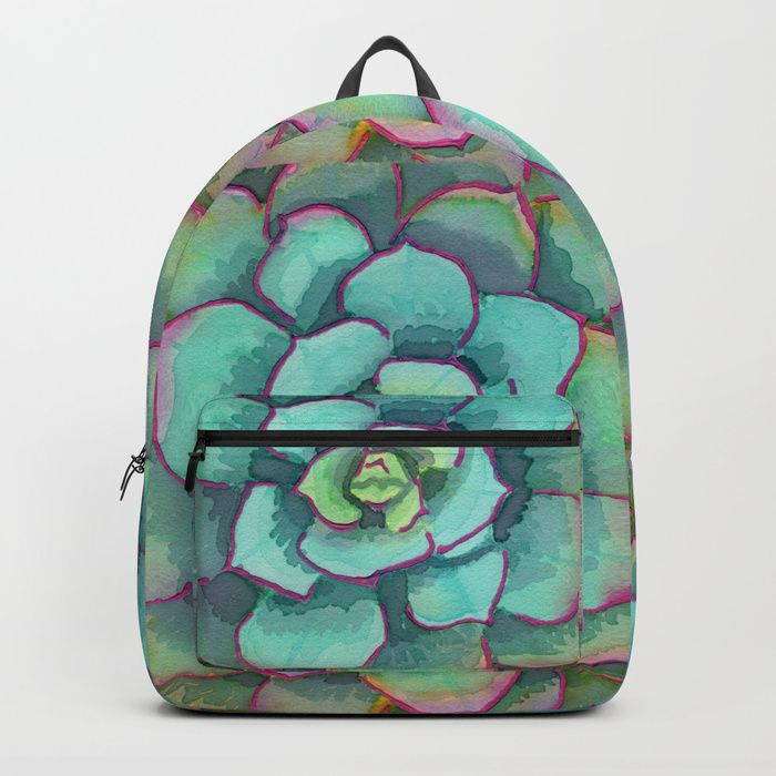 48ab7652aa Buy Sunset Succulent Backpack by katerose71. Worldwide shipping available  at Society6.com. Just