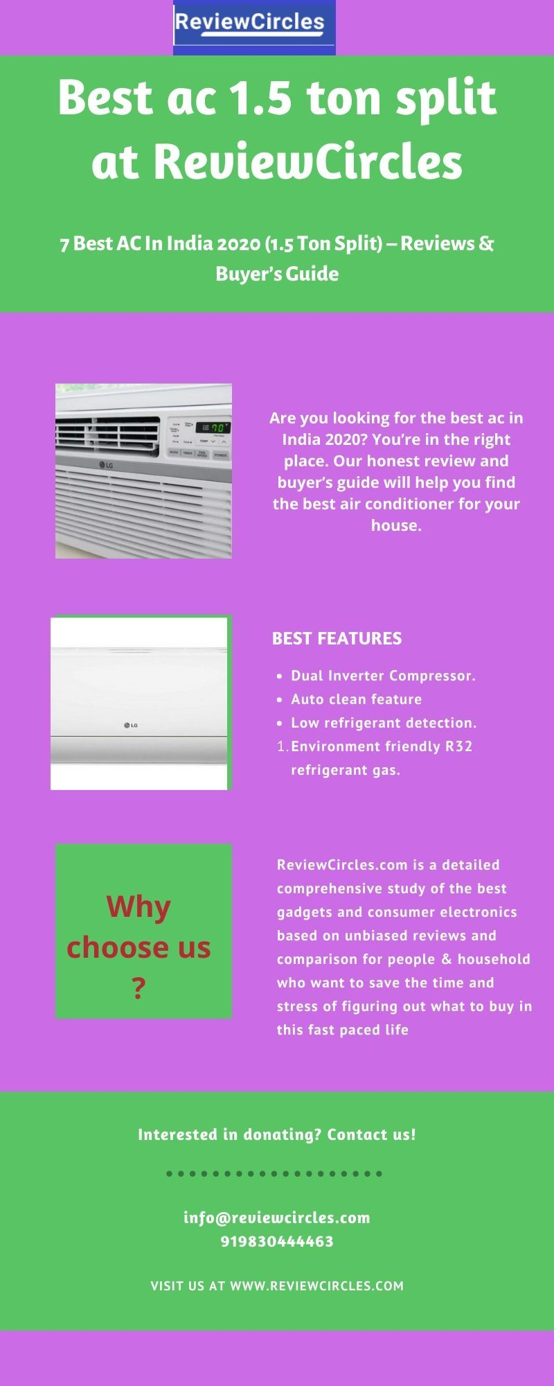 7 Best AC In India 2020 (1.5 Ton Split) Reviews & Buyer