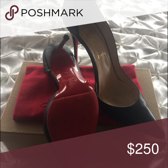 Heels Size 41, bottoms re soled, leather, 4 inch high heel, Comfortable, Christian Louboutin Christian Louboutin Shoes Heels